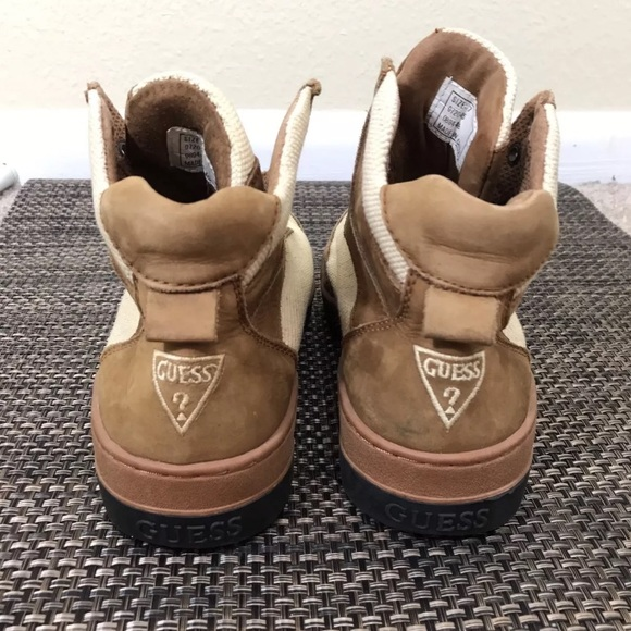 90S 80S Guess Sneaker Boots Shoe 7 Triangle Logo Guess Beige Boots Shoes